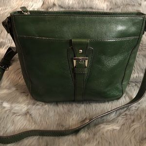 Gorgeous rich green leather purse